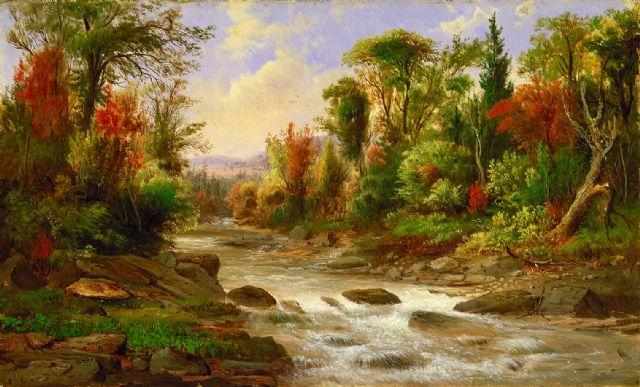 original river and trees scenery canada landscape paintings