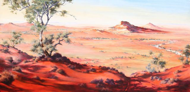 original the great australian outback painting