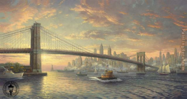 original thomas kinkade the spirit of new york paintings