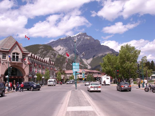original town of banff canada paintings
