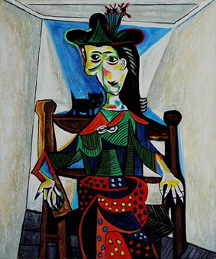 pablo picasso dora maar with cat painting