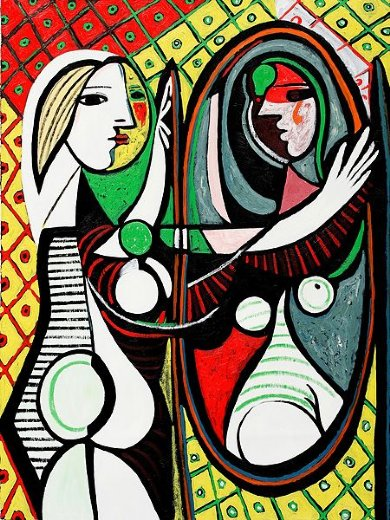 pablo picasso girl before a mirror iii painting