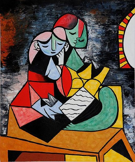 pablo picasso la lecture paintings