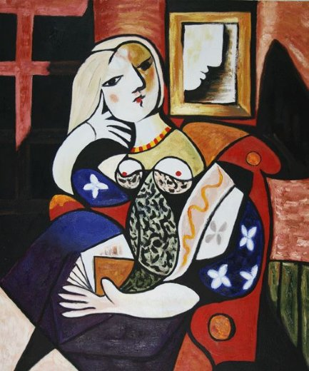 pablo picasso woman with book paintings
