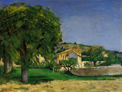 paul cezanne chestnut trees and farmstead of jas de bouffin paintings