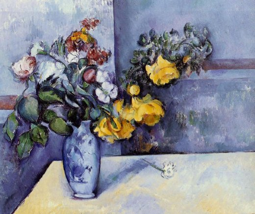 paul cezanne flowers in a vase iii painting