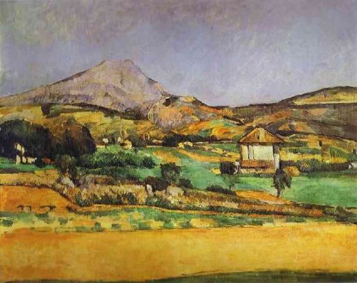 paul cezanne plain by mount sainte victoire painting