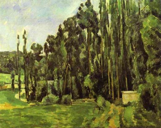 paul cezanne poplar trees paintings