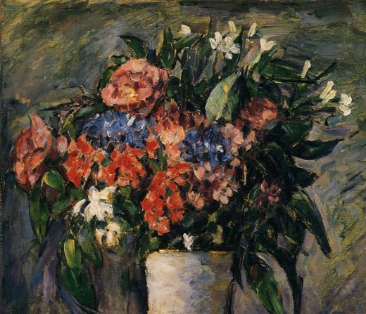 paul cezanne pot of flowers painting
