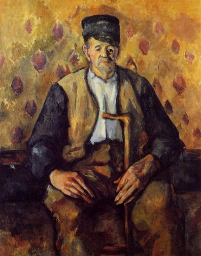 paul cezanne seated peasant painting