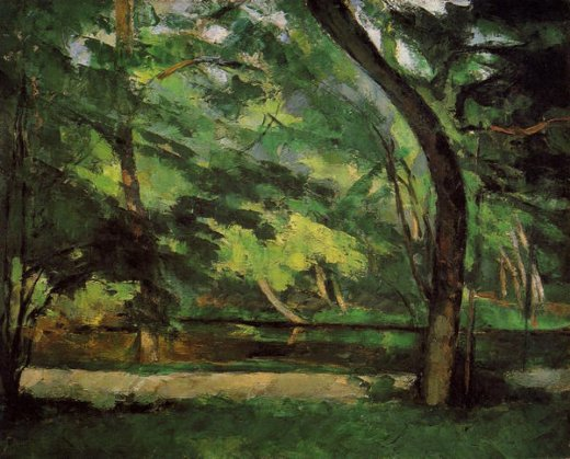 paul cezanne the etang des soeurs at osny paintings