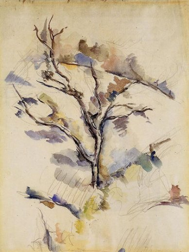 paul cezanne the oak tree paintings