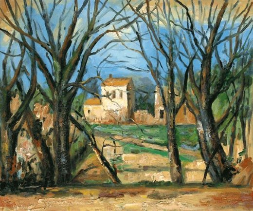 paul cezanne trees and house paintings