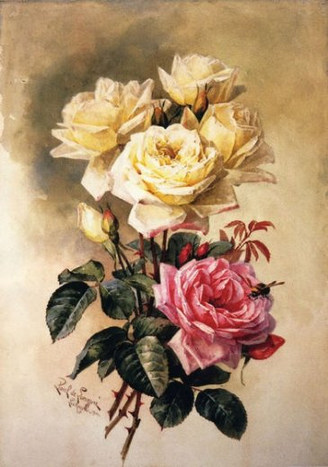 paul de longpre french bridal roses painting