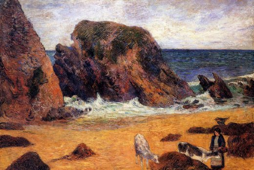paul gauguin cows by the sea paintings