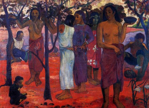 paul gauguin nave nave mahana paintings