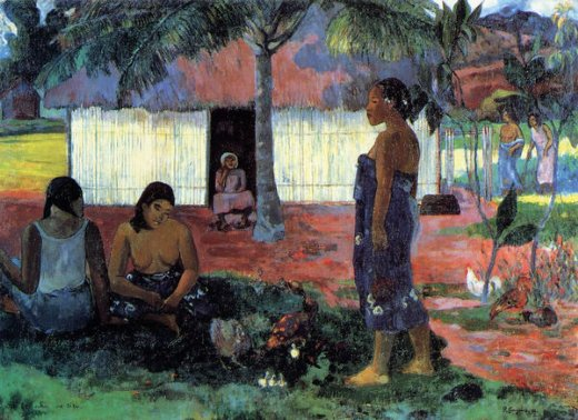 paul gauguin no te aha oe riri painting
