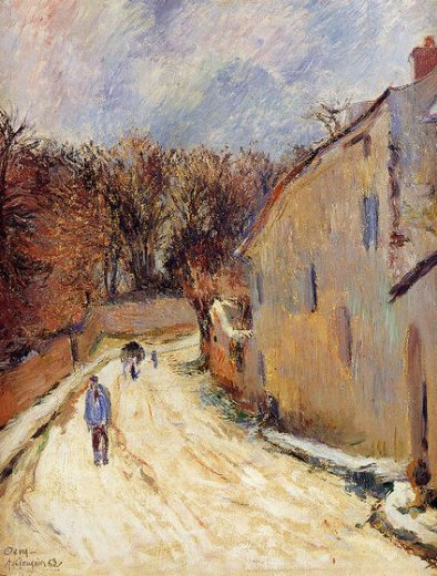 paul gauguin osny rue de pontoise winter painting
