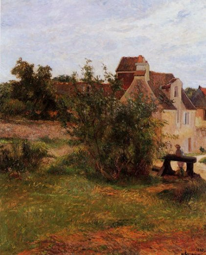 paul gauguin osny the gate busagny farm painting
