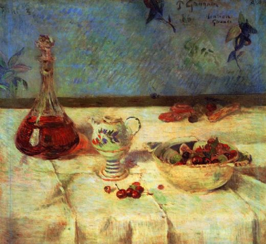 paul gauguin still life with cherries paintings