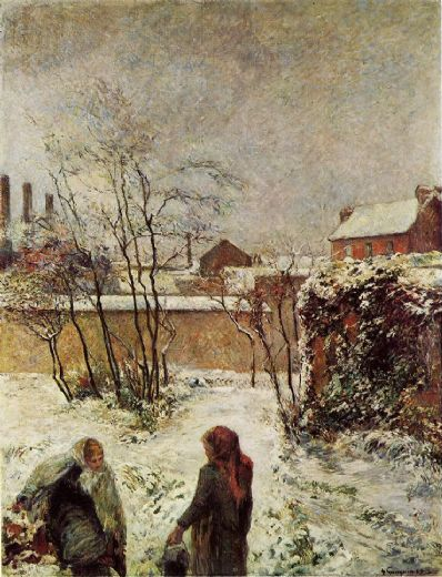 paul gauguin the garden in winter rue carcel painting