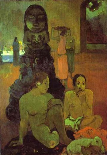 paul gauguin the great buddah paintings