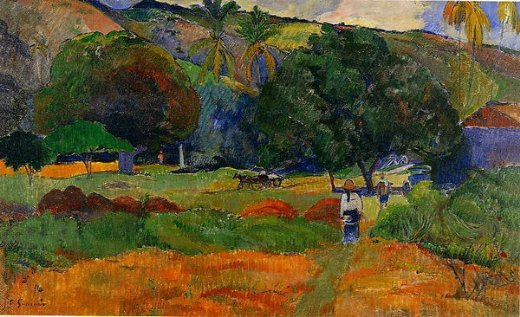 paul gauguin the little valley paintings