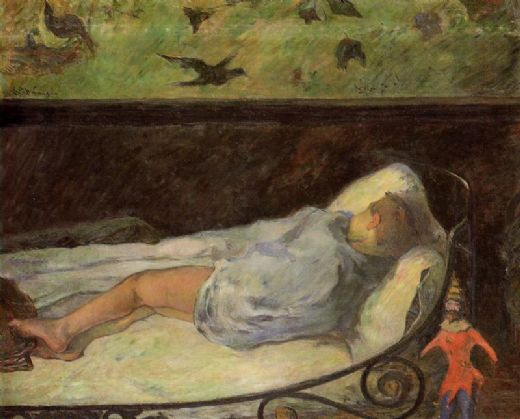 paul gauguin young girl dreaming painting