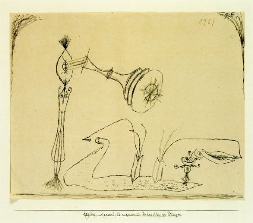 paul klee apparatus for the magnetic treatment of plants painting