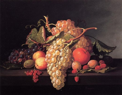 paul lacroix fruit still life painting