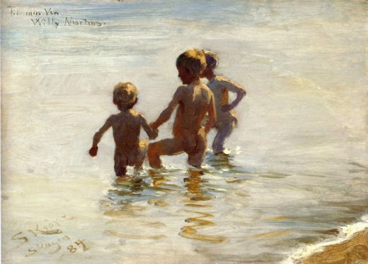 peder severin kroyer a summer s day at skagen south beach painting