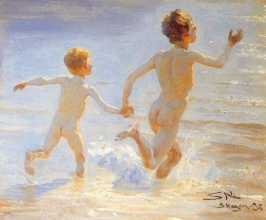 peder severin kroyer playa de skagen painting