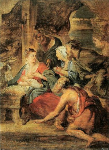 peter paul rubens adoration of the shepherds paintings