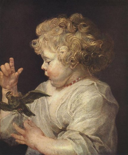 peter paul rubens boy with bird painting