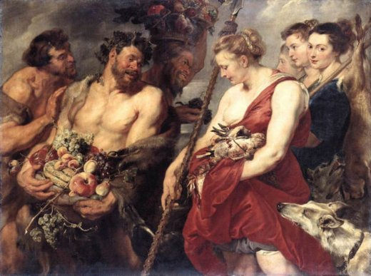 peter paul rubens diana returning from hunt oil painting