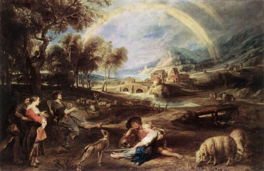 peter paul rubens landscape with a rainbow paintings