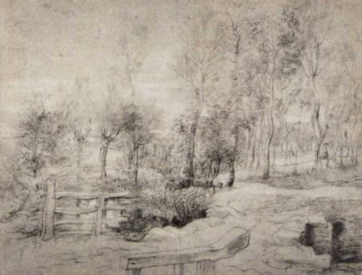 peter paul rubens landscape with a trees painting