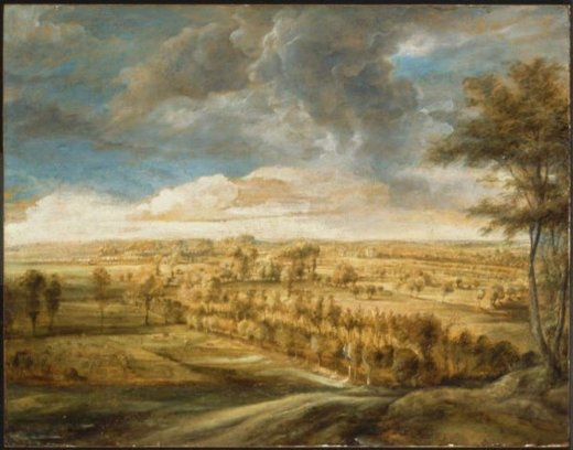 peter paul rubens landscape with an avenue of trees paintings