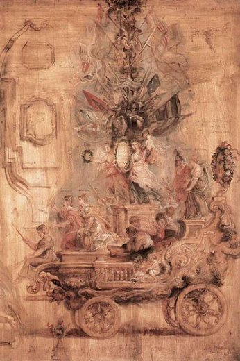 peter paul rubens the triumphal car of kallo sketch paintings