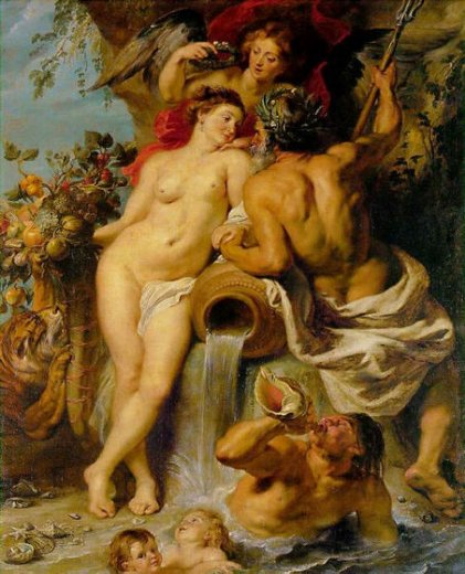 peter paul rubens the union of earth and water painting