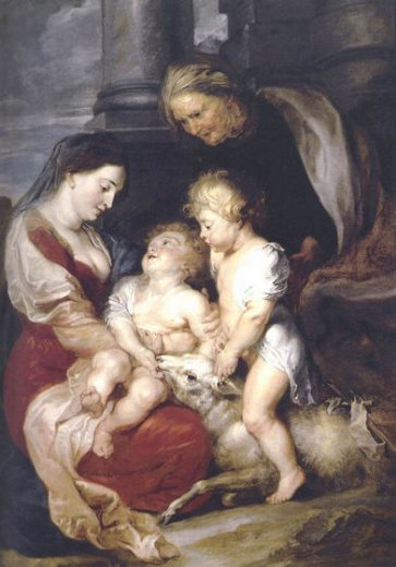peter paul rubens the virgin and child with st elizabeth and the infant st john the baptist painting