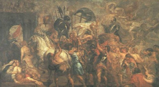 peter paul rubens triumphal entry of henry iv into paris painting