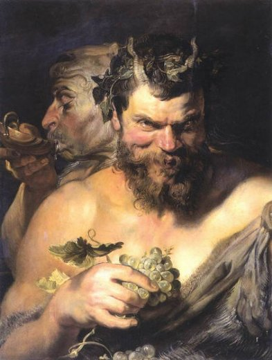 peter paul rubenstwo satyrs Painting-27050