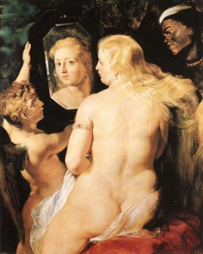 peter paul rubens venus at a mirror painting