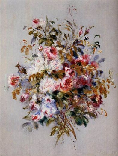 pierre auguste renoir a bouquet of roses paintings