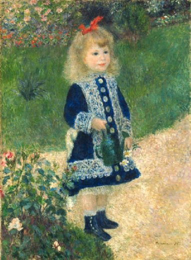 pierre auguste renoir a girl with a watering can paintings