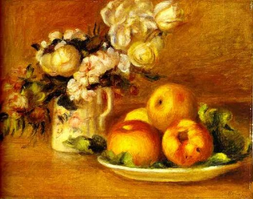 pierre auguste renoir apples and flowers (les pommes et fleurs) paintings