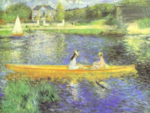 pierre auguste renoir banks of the seine at asnieres posters