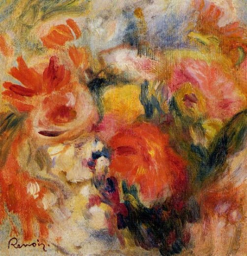pierre auguste renoir flower study paintings