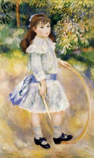 pierre auguste renoir girl with a hoop painting